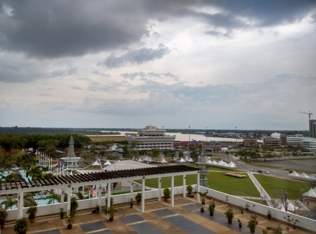 View from room , RH Hotel Sibu
