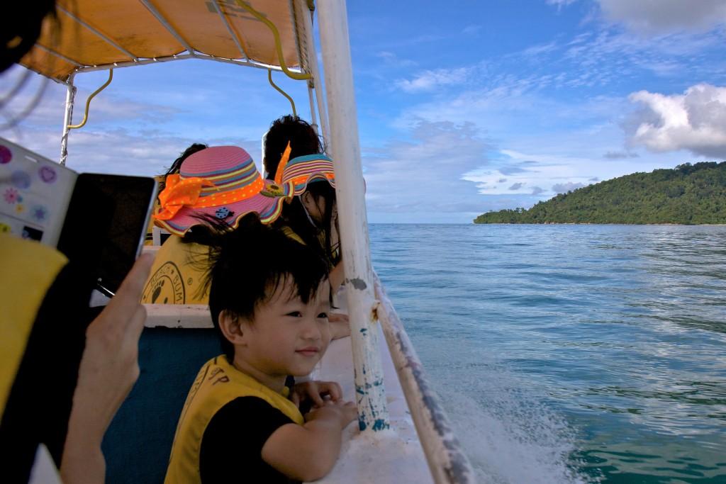 On speedboat